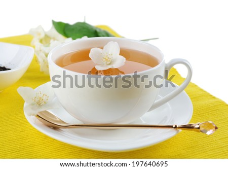 Jasmine tea on table
