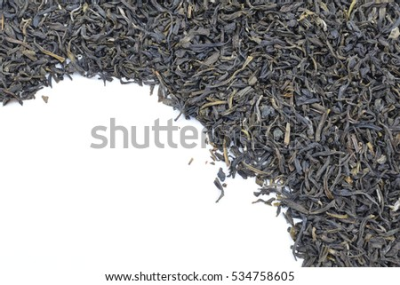 jasmine tea  on  white background.
