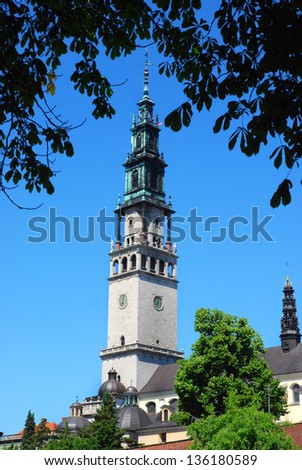 Jasna Gora Monastery in Czestochowa - stock photo