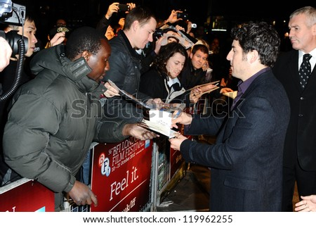"Jason Biggs at the premiere for ""Grassroots"" being shown as part of the London Film Festival 2012, London. 12/10/2012 Picture by: Steve Vas"