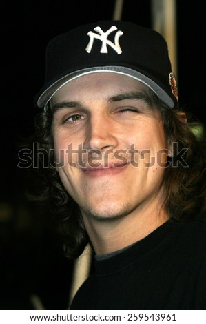 "Jason Mewes at the Los Angeles Premiere of ""Blade: Trinity"" held at the Grauman's Chinese Theatre in Hollywood, California, United States on December 7, 2004. - stock photo"