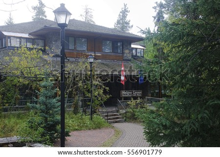 JASPER, CANADA - SEPTEMBER 9, 2016: Maligne Canyon, Jasper National Park on 9 September 2016 in Jasper, Maligne Canyon is one of the major tourist attractions in and around Jasper