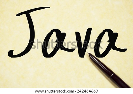 java word write on paper  - stock photo
