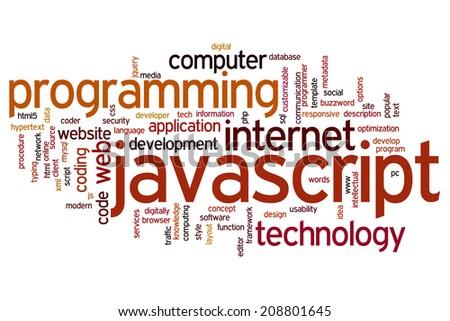 Javascript concept word cloud background - stock photo