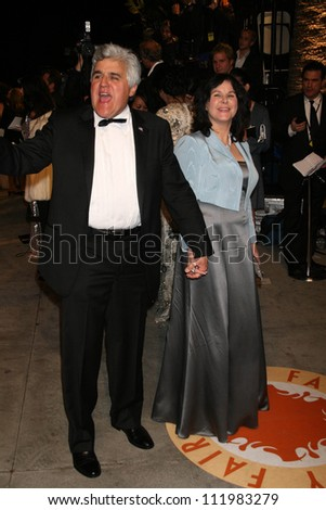 Jay Leno and wife Mavis at the 2007 Vanity Fair Oscar Party. Mortons, West Hollywood, CA. 02-25-07 - stock photo