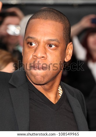 Jay Z arriving at the Men In Black 3 Premiere, at Odeon Leicester Square, London. 16/05/2012 Picture by: Alexandra Glen / Featureflash
