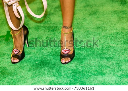 JAZZ ANDERSON close-up shoes attends the 2017 BET HIP-HOP AWARDS red carpet on Friday, October 6th, 2017 at the FILLMORE MIAMI BEACH AT THE JACKIE GLEAN THEATER - USA