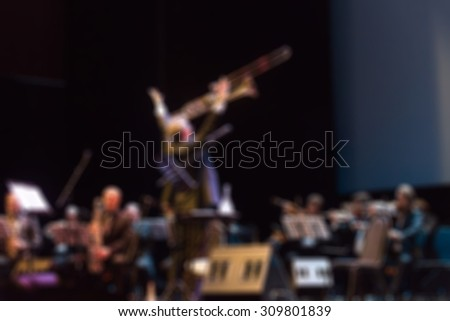 Jazz concert festival theme creative abstract blur background with bokeh effect - stock photo