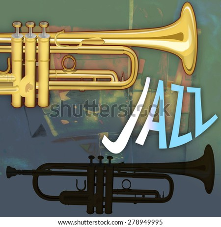 Jazz concert poster - stock photo