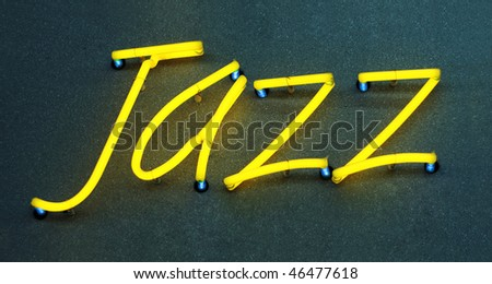 Jazz, generic neon sign. - stock photo