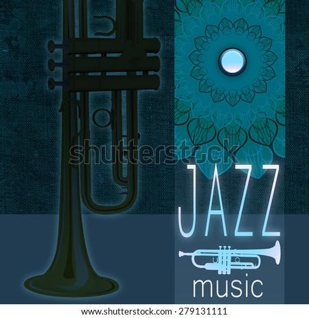 Jazz night poster - stock photo
