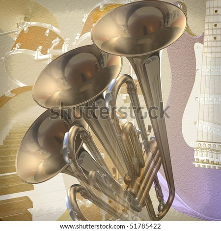 Jazz rock musical background - stock photo