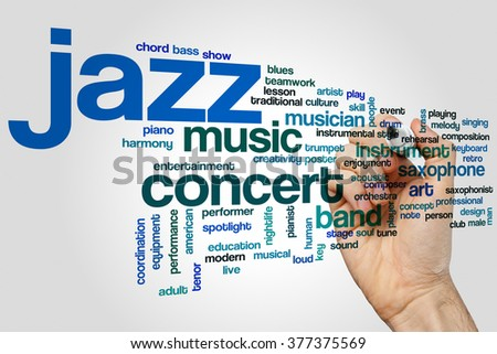Jazz word cloud concept - stock photo