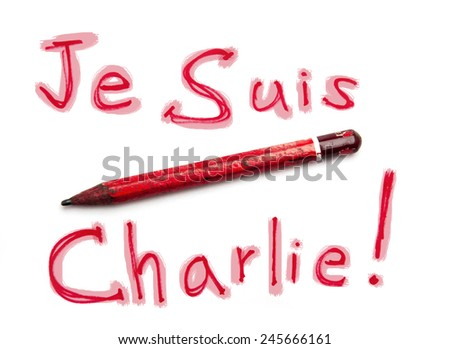 Je Suis Charlie - I am Charlie - stock photo