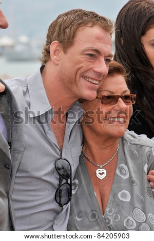 Jean-Claude Van Damme & mother at the 61st Annual International Film Festival de Cannes. May 17, 2008  Cannes, France. Picture: Paul Smith / Featureflash