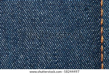 jean material - stock photo