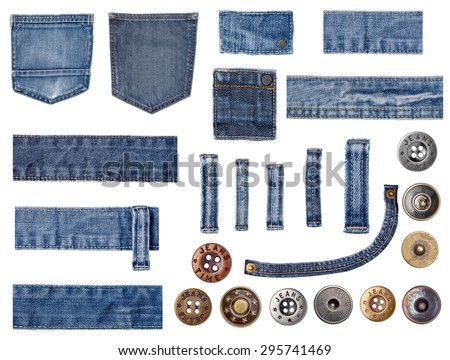 jeans and buttons - stock photo