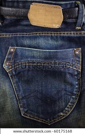 jeans back pocket - stock photo