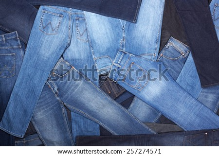 jeans background - stock photo