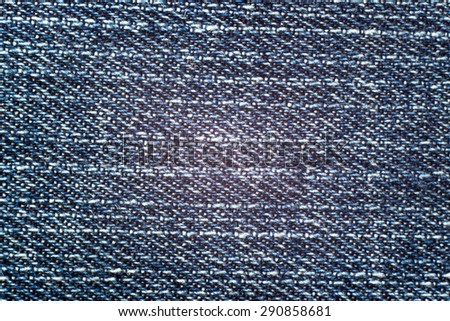 Jeans background, macro structure of cloth