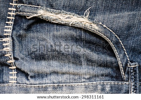 Jeans background, old shabby jeans. - stock photo