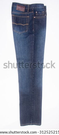 Jeans. Blue Jeans on background