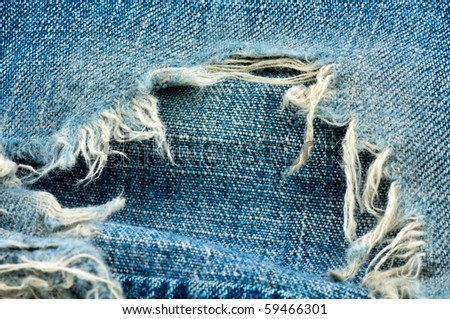 jeans cloth texture - stock photo
