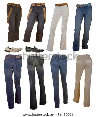 jeans collection - stock photo