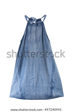 Jeans female dress isolated on white with clipping path