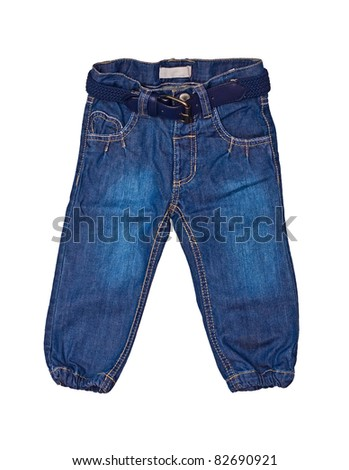 jeans for kid - stock photo