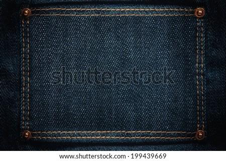 jeans frame - stock photo