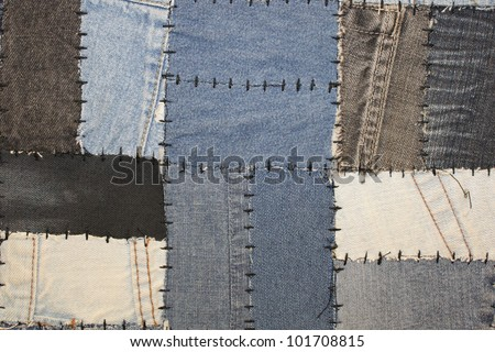 Jeans patches - stock photo