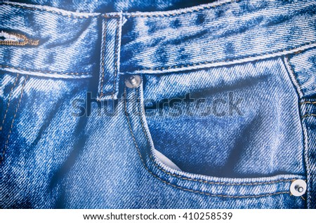 jeans pocket as a background - stock photo