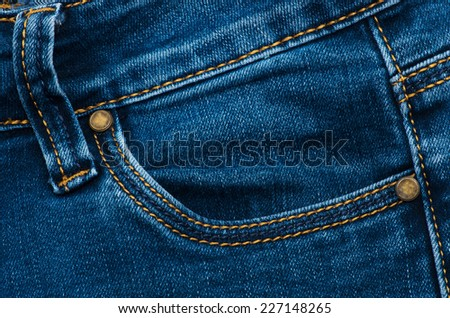 Jeans pocket for background - stock photo