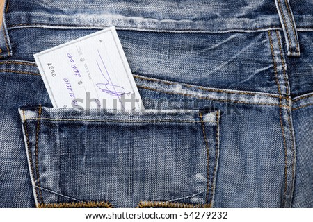Jeans pocket with dollars.Finanse abstract - stock photo