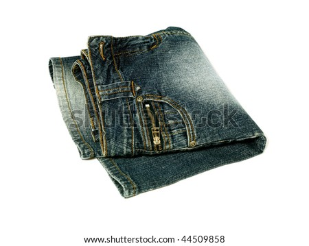 jeans skirt isolated on white background