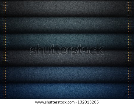jeans stacked in a pile - stock photo