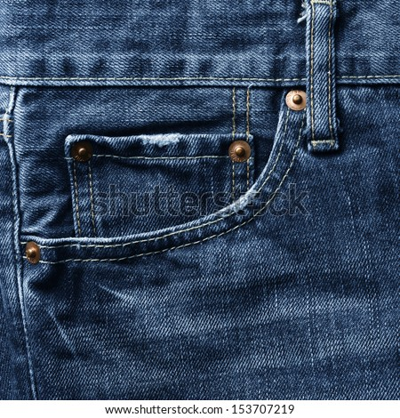 jeans texture - stock photo
