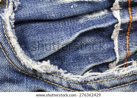 Jeans texture background. - stock photo