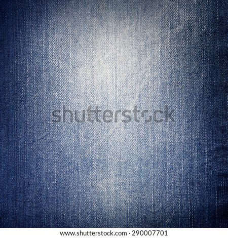 jeans texture background, frayed fabric texture and vignette - stock photo