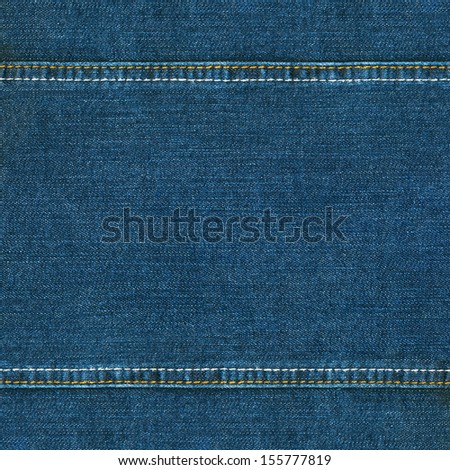 Jeans texture with seams  - stock photo