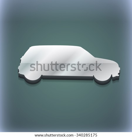 Jeep icon symbol. 3D style. Trendy, modern design with space for your text illustration. Raster version - stock photo