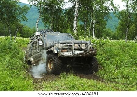 Jeep rase - stock photo