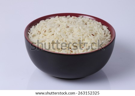 Jeera rice - long-grain basmati rice  - stock photo