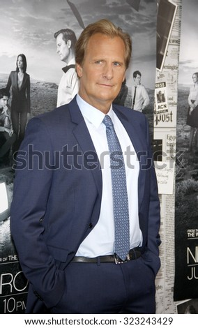 """Jeff Daniels at the HBO's Season 2 Premiere Of """"The Newsroom"""" held at the Paramount Studios in Hollywood, USA on July 10, 2013. - stock photo"""