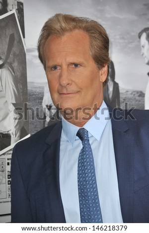 Jeff Daniels at the season two premiere of HBO's The Newsroom at Paramount Studios, Hollywood. July 10, 2013  Los Angeles, CA - stock photo