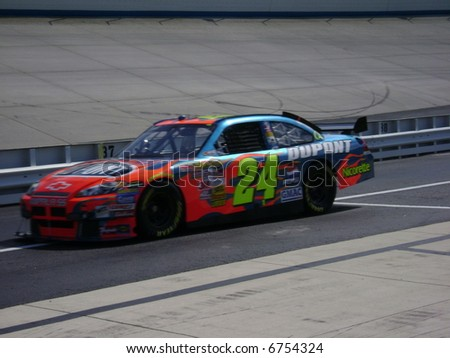 jeff gordon qualifing - stock photo
