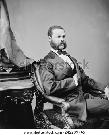 Jefferson Franklin Long (1836 - 1901), born a slave who educated himself and became a tailor in Macon, Georgia. Served in House of Representatives during as a replacement for only two months in 1871. - stock photo
