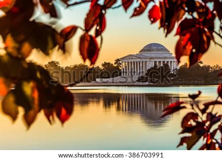 Jefferson in Autumn - stock photo