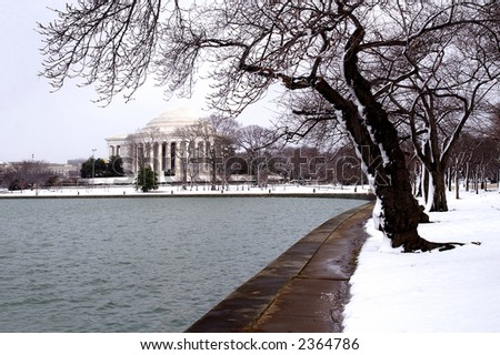 Jefferson Memorial After a Winter Snow